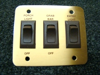 NEW/OLD SLOCK 3 WAY GOLD LIGHT PLATE SWITCH P/N:4.128.745 PRICE: $28.00