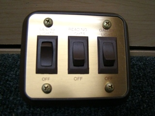 NEW/OLD STOCK RV/MOTORHOME 3WAY GOLD/BROWN SWITCH P/N:4.128.745 PRICE: $55.00