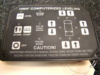 USED RV/MOTORHOME HWH COMPUTERIZED LEVELING CONTROL PRICE: $144.00+$8.99 SHIPPING