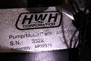 USED HWH HYDRAULIC PUMP AP29281 FOR SALE  **OUT OF STOCK**