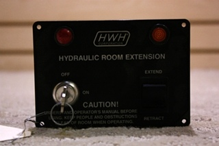USED HWH HYDRAULIC ROOM EXTENSION KEY SWITCH PANEL FOR SALE