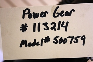 POWER GEAR LEVELING JACK 500759 FOR SALE