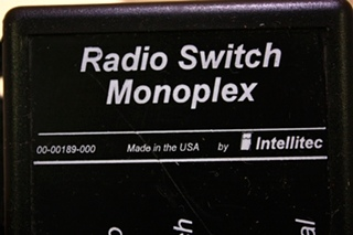 USED INTELLITEC RADIO SWITCH MONOPLEX 00-00189-000 FOR SALE