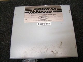 USED RV/MOTORHOME POWER 50 AUTOMATIC TRANSFER SWITCH BOX SHORELINE TRANSFER