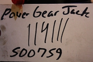 USED POWER GEAR LEVELING JACK 500759 FOR SALE