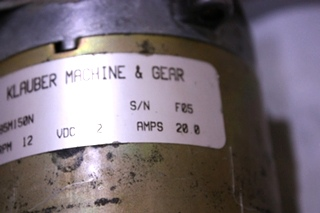 USED KMG KLAUBER SLIDE OUT MOTOR K01285M150N FOR SALE