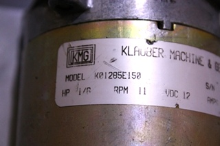 USED RV/MOTORHOME KLAUBER SLIDE OUT MOTOR K01285E150 FOR SALE