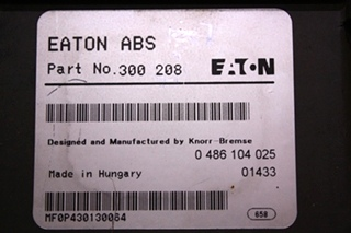 USED EATON 300 208 ABS CONTROL BOARD FOR SALE