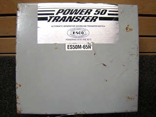USED RV/MOTORHOME POWER50 TRANSFER SWITCH BOX MODEL: ES50M-65N