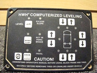 USED RV/MOTORHOME HWH AUTOMATIC LEVELING TOUCH PAD MODEL:AP8444